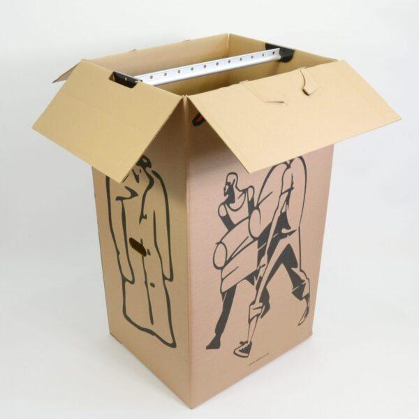 Garderoobikast (papp, metallstange 60x51x106 cm)